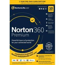 Norton 21389946 360 Premium 10 Devices Antivirus software ( 2020 ) UPC : 037648687041