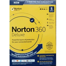 Norton 360 Deluxe 1 Year/5 Devices - Includes VPN, PC Cloud Backup & Dark Web Monitoring ( 21389902 | 37648687034 )