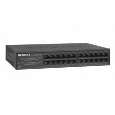 NETGEAR 24-Port Gigabit Ethernet Unmanaged Switch (GS324) – Desktop/Rackmount, Fanless Housing (606449110296)