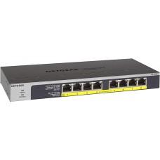 NETGEAR 8-Port Gigabit Ethernet Unmanaged PoE Switch (GS108LP) - with 8 x PoE+ @ 60W Upgradeable - 606449134957
