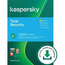 Kaspersky Total Security 2021   5 Devices   1 Year   PC/Mac/Android   Online Code - 752830143296