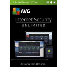 AVG Internet Security 2017 (Unlimited Users, 1-Year License, Boxed, IS17T12EN, 814949017803)
